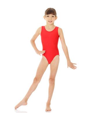 Ärmlös gymnastikdräkt i rött