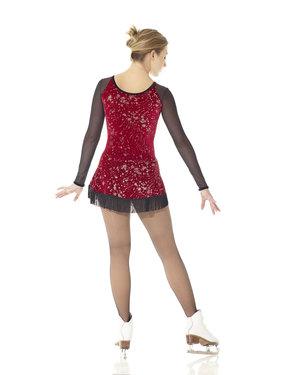 Röd klänning med franskjol