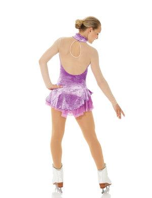 Lila glittrig sammetsklänning