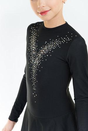 Varm klänning med kristaller