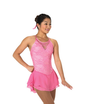 Rosa axelbandsklänning