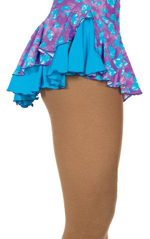 Mönstrad kjol i turkos och lila