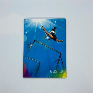 Anteckningsbok med gymnastikmotiv
