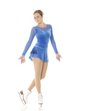 Blå sammetsklänning med glittertryck