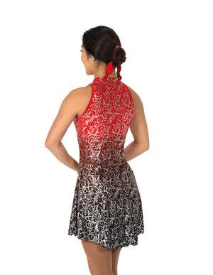 Röd/silvrig klänning från Jerry