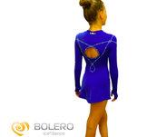 Långärmad  kristalldekorerad klänning med rak kjol  från Bolero