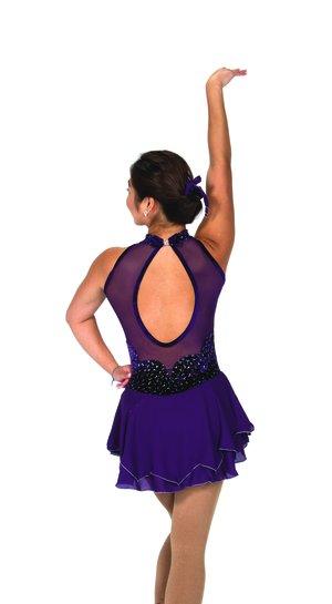 Mörklilat glittrig klänning