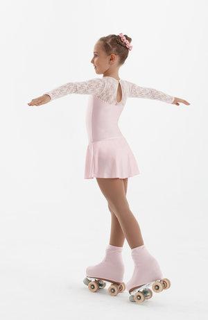 Söt lykraklänning med spets i svart, vitt eller rosa
