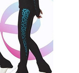 Byxor med detaljer i turkost leopard mönster