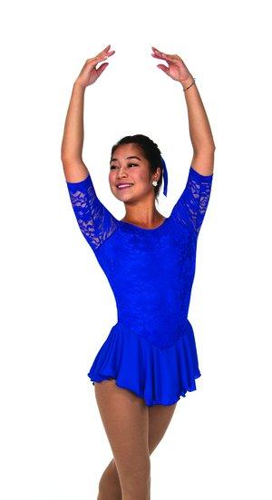 Blå spetsklänning