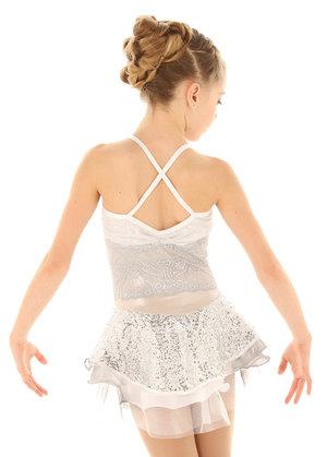 Vit klänning med silverglitter