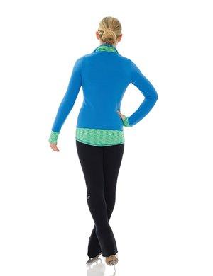Svarta leggings i polarfleece som går över klacken