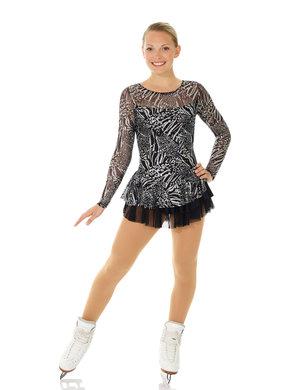 svart klänning med glitter