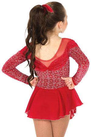 Röd sammetsklänning med silverglitter
