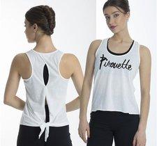 Luftigt linne med detaljer i ryggen och texten pirouette framtill