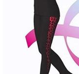 Byxor med detaljer i rosa leopard mönster