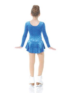 Blå sammetsklänning med glittermönster