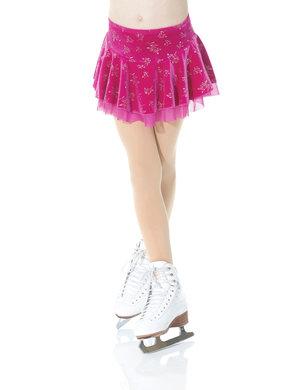 Rynkad kjol i glittersammet