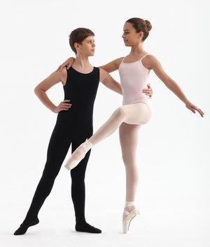 Dansdräkt med spets på ryggen i  svart, vitt eller rosa