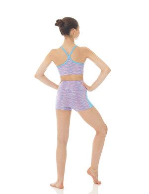 Blåmelerad sport-BH i funktionsmaterial