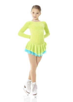 Grön sammetsklänning med turkos tyllunderkjol