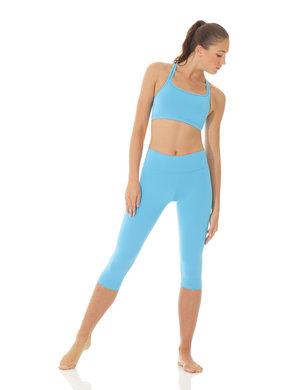 Blå sport-BH i funktionsmaterial