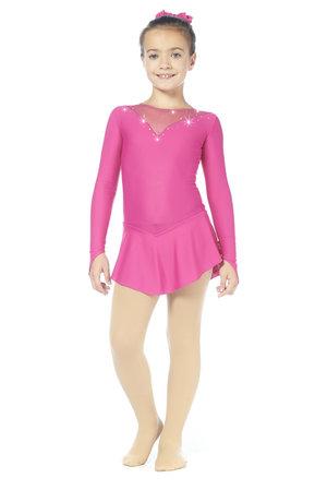 Rosa klänning i lykra.