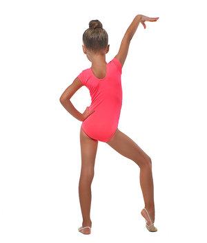 Korallrosa gymnastikdräkt  från RG Leotard