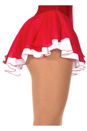 Röd kjol med underkjol i vitt
