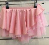 Ljusrosa rynkad kjol