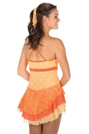 Orange axelbandsklänning