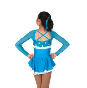 Turkos/prickig klänning