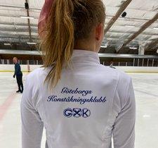 Vit klubbjacka Göteborgs Konståkningsklubb singel