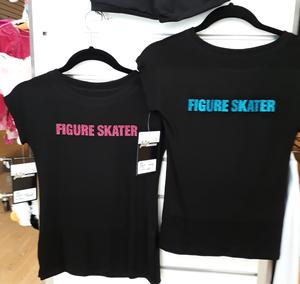 T-shirt för glittertryck - konståkning, gymnastik, cheer och dans