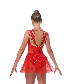 Röd tävlingsklänning från RG Leotard