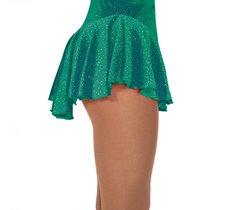 Grön rynkad kjol i glittersammet