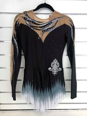 Tävlingsklänning i svart från RG Leotard