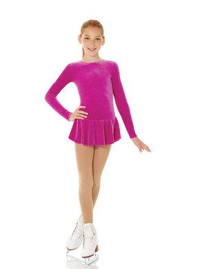 Ceriserosa klänning i glittersammet