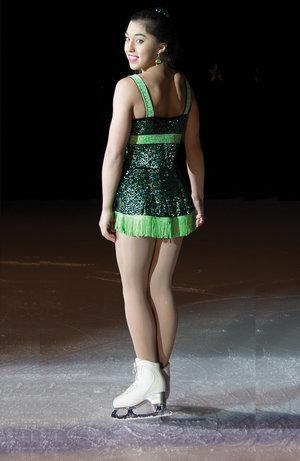 Klänning i grön glittersammet