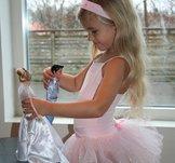 Balettklänning  i rosa, vitt eller svart