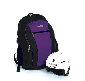 Ryggsäck med plats för hjälmen