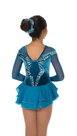Mörkturkos klänning med glittermönster