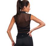 Svart träningstopp med rygg i mesh