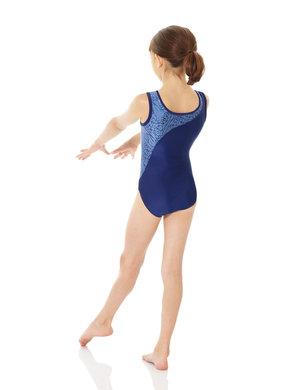 Blå/mönstrad gymnastikdräkt från Mondor