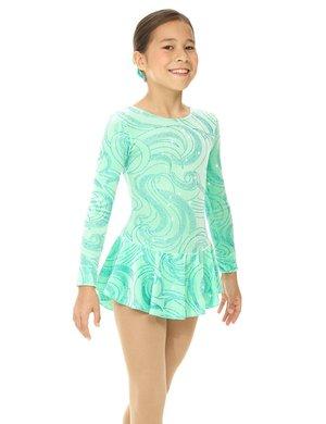 Mintgrön klänning med glittermönster
