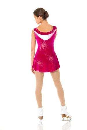 Rosa sammetsklänning med glitter