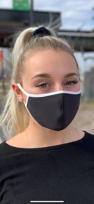 Formsytt svart  munskydd från Mondor