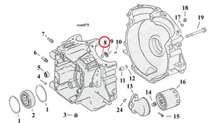O-Ring, Crank position& Speed sensor
