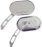 Chrome Hd Style Oval Mirror Pair