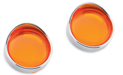 Turn Signal Trim Rings Amber Fr.+B 01-W/Visor